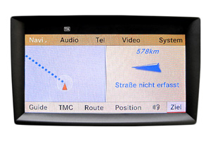 ML Klasse - Navi Display Reparatur, Komplettausfall