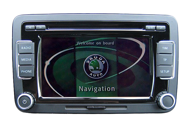 Škoda Superb Navigationsgerät Pixelfehler Reparatur, Navi - Display / Monitor defekt